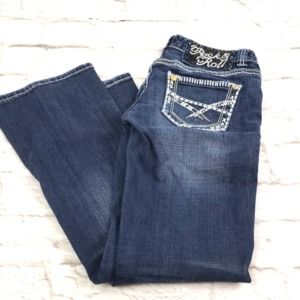 Rock & Roll  Low Rise Boot Cut Bling Jeans 27X32